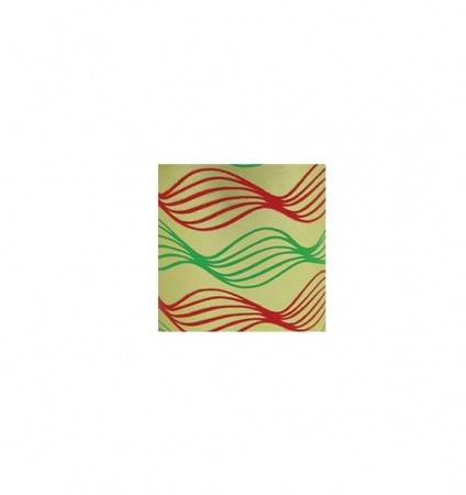 "Red/Green/Gold Swirl (7 3/8"") DP98.078"