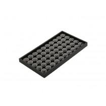 "50 Capsule Gemstone Tray-Black (8 1/4 x 14 3/4"") DP30.150-99"