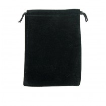 """Suedine Pouch-Black Velvet (Dz) (4 1/4 x 4 5/8"""") DP45.205"""