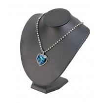 "Necklace Bust on Stand-Black (7 1/2 x 6 x 8"") DP50.842-99"