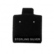 Black Puff Pads - Sterling Silver (100) (2 Hole) DP99.930-99