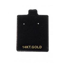 Black Puff Pads - 14 KT (100) (2 Hole) DP99.956-99