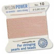 Nylon Bead Cord Pink #10 NY05-1016