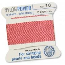 Nylon Bead Cord Dark Pink #10 NY05-1018
