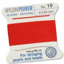Nylon Bead Cord Red #10 NY05-1020