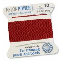 Nylon Bead Cord Garnet #10 NY05-1022