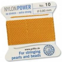 Nylon Bead Cord Amber #10 NY05-1042