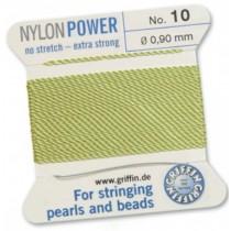 Nylon Bead Cord Jade #10 NY05-1050