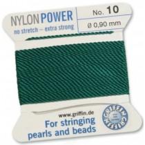 Nylon Bead Cord Green #10 NY05-1054