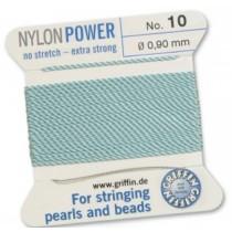 Nylon Bead Cord Turquoise #10 NY05-1062