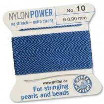 Nylon Bead Cord Blue #10 NY05-1064