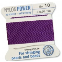 Nylon Bead Cord Amethyst #10 NY05-1072