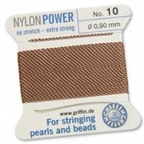 Nylon Bead Cord Cornelian #10 NY05-1084