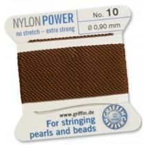 Nylon Bead Cord Brown #10 NY05-1085