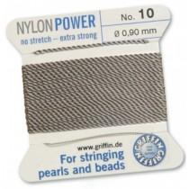 Nylon Bead Cord Gray #10 NY05-1090