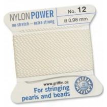 Nylon Bead Cord White #12 NY05-1201