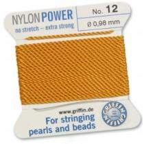 Nylon Bead Cord Amber #12 NY05-1242