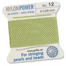 Nylon Bead Cord Jade #12 NY05-1250