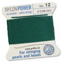 Nylon Bead Cord Green #12 NY05-1254