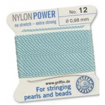 Nylon Bead Cord Turquoise #12 NY05-1262