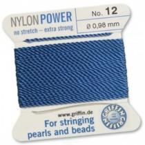 Nylon Bead Cord Blue #12 NY05-1264