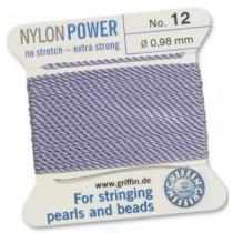 Nylon Bead Cord Lilac #12 NY05-1270