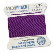 Nylon Bead Cord Amethyst #12 NY05-1272