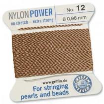 Nylon Bead Cord Cornelian #12 NY05-1284