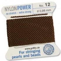 Nylon Bead Cord Brown #12 NY05-1285