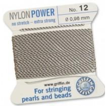 Nylon Bead Cord Gray #12 NY05-1290
