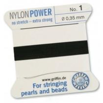 Nylon Bead Cord Black #1 NY05-199