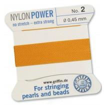 Nylon Bead Cord Amber #2 NY05-242