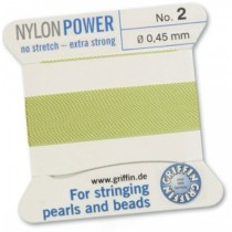 Nylon Bead Cord Jade #02 NY05-250