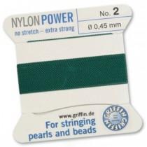 Nylon Bead Cord Green #2 NY05-254