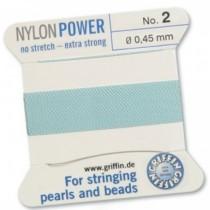 Nylon Bead Cord Turquoise #2 NY05-262