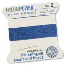 Nylon Bead Cord Blue #2 NY05-264