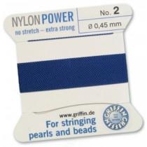Nylon Bead Cord Dark Blue #2 NY05-266