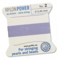 Nylon Bead Cord Lilac #02 NY05-270