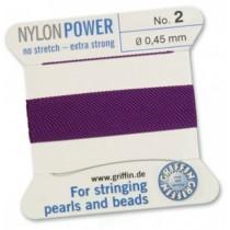 Nylon Bead Cord Amethyst #2 NY05-272