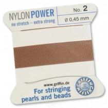 Nylon Bead Cord Cornelian #02 NY05-284