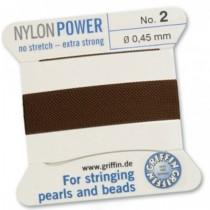 Nylon Bead Cord Brown #2 NY05-285