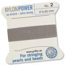 Nylon Bead Cord Gray #2 NY05-290