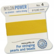Nylon Bead Cord Yellow #4 NY05-440