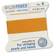 Nylon Bead Cord Amber #4 NY05-442