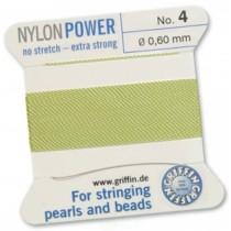 Nylon Bead Cord Jade #04 NY05-450