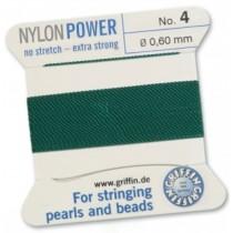 Nylon Bead Cord Green #4 NY05-454