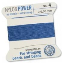 Nylon Bead Cord Blue #4 NY05-464
