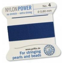 Nylon Bead Cord Dark Blue #4 NY05-466