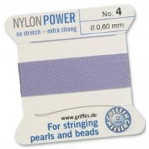 Nylon Bead Cord Lilac #04 NY05-470