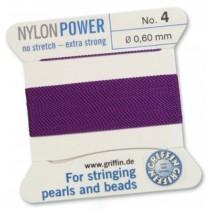 Nylon Bead Cord Amethyst #4 NY05-472
